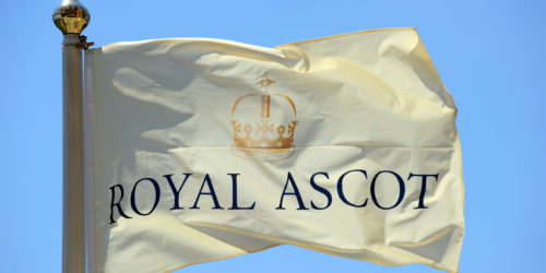 BMR03N Royal Ascot flag during day two of Royal Ascot 2010