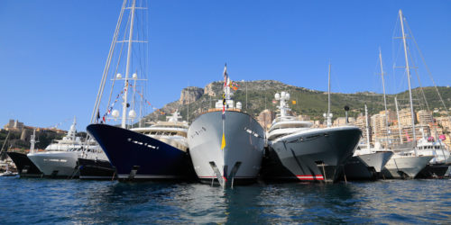 DH02W4 Monaco Yacht Show 2012, Port Hercule, Principality of Monaco, Cote d'Azur, Mediterranean Sea, Europe