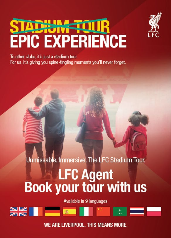 Liverpool Hospitality Ticket Package and book your Stadium Tour